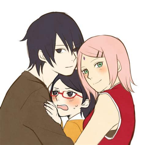 sarada sasuke uchiha and sakura family uchiha sarada uchiha sasuke haruno sakura by yuno chan