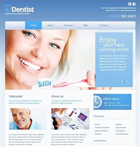 Dentist Website Template Top Dental Website Templates For Your Medical Center
