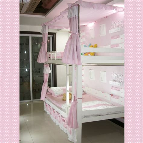 curtains for bunk beds ikea bunk beds kids pink curtain ideas with kids bedroom