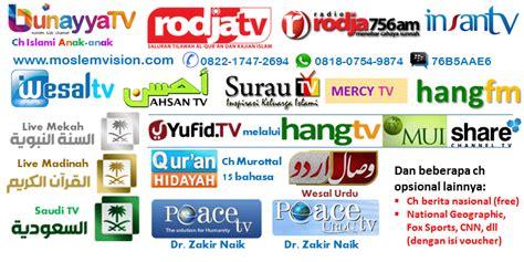 Tv Rodja parabola channel islami gratis iuran rodja insan tv qur