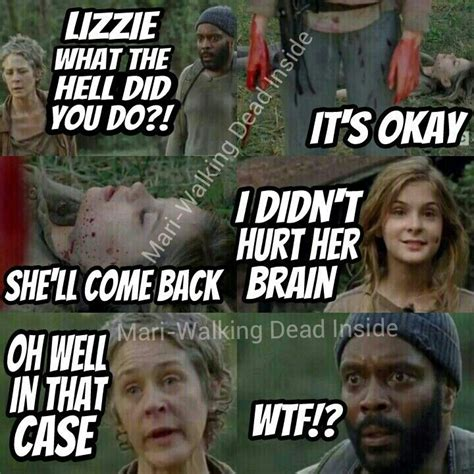 Tyreese Walking Dead Meme - the walking dead lizzie samuels carol pelletier tyreese