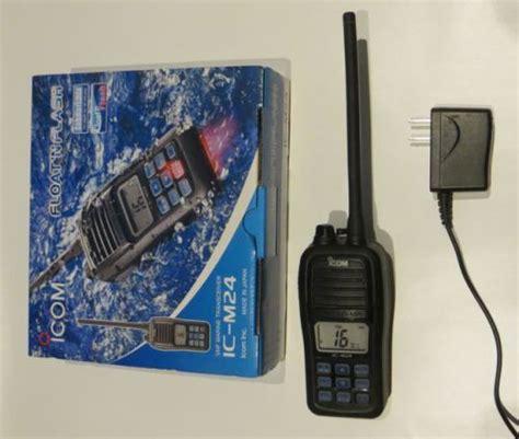 Ht Icom Ic M24 Vhf Marine sell marine vhf handheld icom m24 5 watt transceiver motorcycle in belleville ontario canada