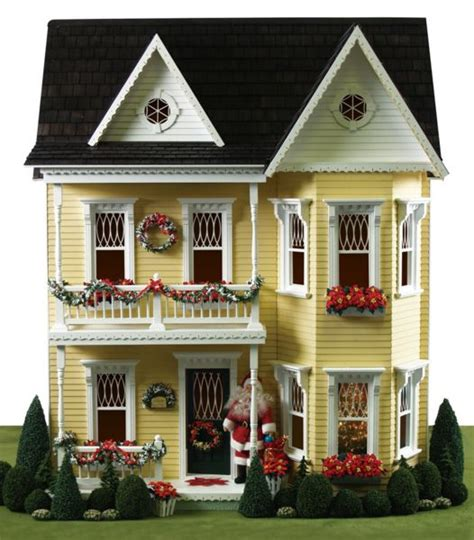 dollhouse decorated for christmas a splendidly pretty princess anne dollhouse decked out for