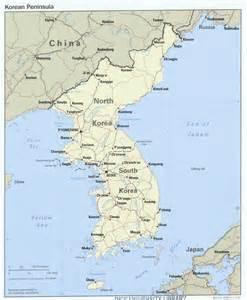 political map of korea maps korea