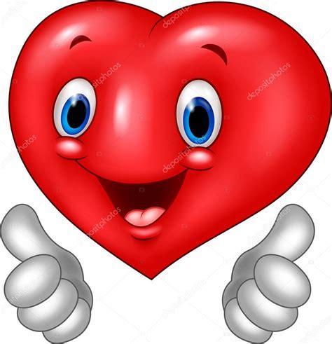 imagenes amor corazon y vision dibujos animados coraz 243 n amor dando pulgar arriba aisladas