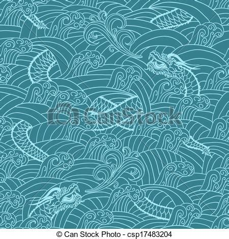 japanese pattern clipart vector clipart of asian pattern with dragon background