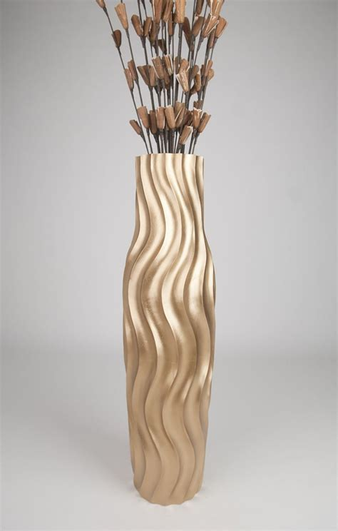 floor vases brown floor vase 36 inches wood