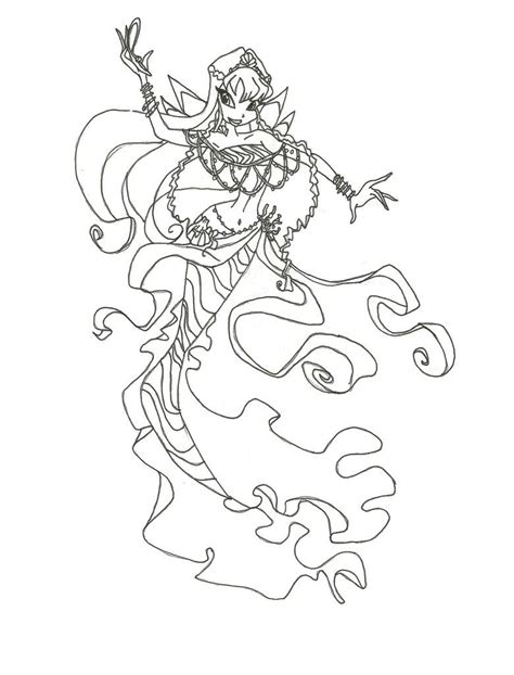 Winx Mermaids Coloring Pages | winx club mermaid bloom coloring page by winxmagic237