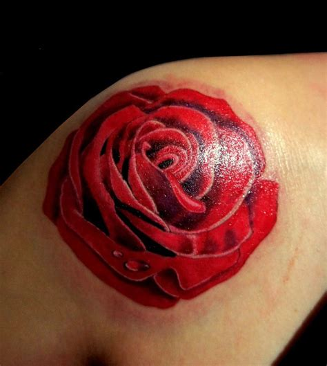 red rose tattoo on shoulder tattoos page 55