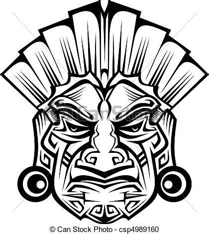 Clipart Vecteur De Ancien Masque Ancient C 233 R 233 Monie