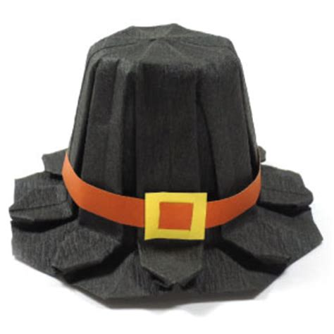 How To Make Pilgrim Hats From Paper - how to make an origami pilgrim hat for thanksgiving page 1