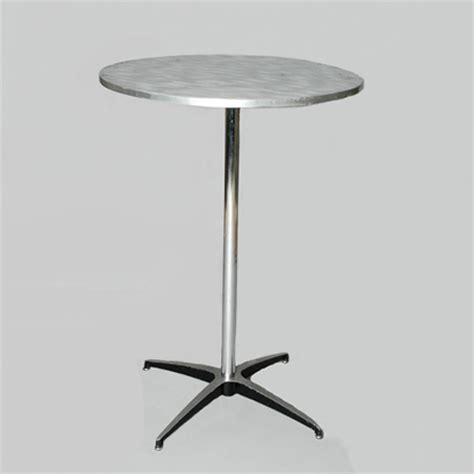 Metal Pedestal Table by Brushed Metal Pedestal Table Collection