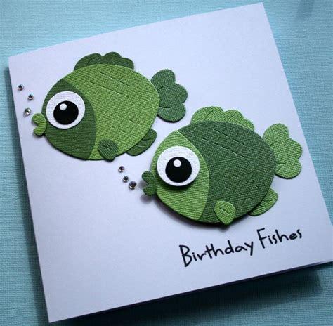 fishing cards handmade personalised birthday fishes fish fishing