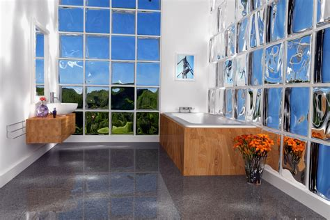 alternative zu gardinen am fenster glasbausteine in klarglas in vielen farben mit