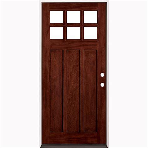 Exterior Door Units 36 Quot Prefinished Prehung Mahogany Exterior Door Unit Left