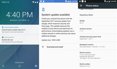android system updates xiaomi mi a1 review part 1 unboxing boot firmware update and benchmarks