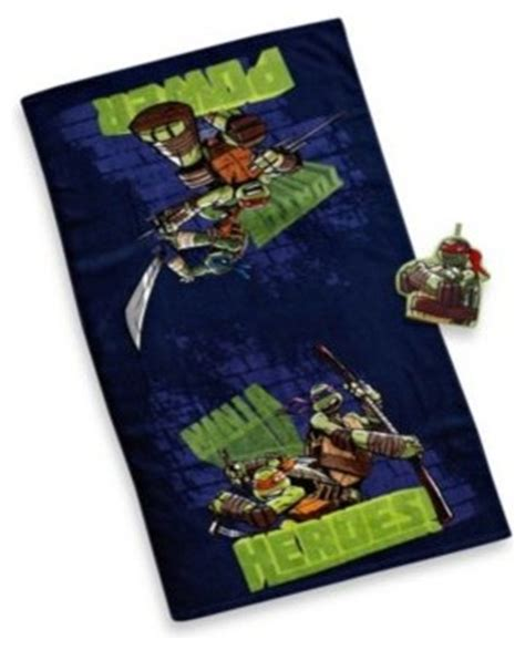 tmnt bathroom decor teenage mutant ninja turtles bath towel and wash mitt set