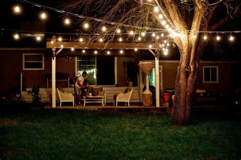 patio rope lighting ideas outdoors patio lighting ideas