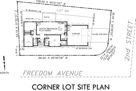 single level house plans corner lot house plans