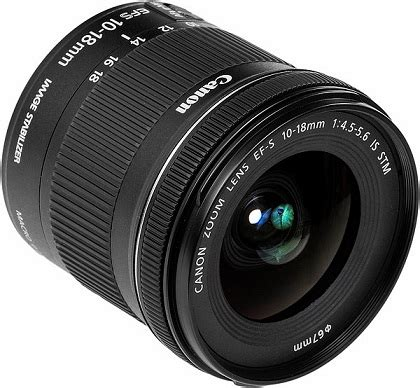Lensa Canon Wide 10 18mm canon ef s 10 18mm f4 5 5 6 is stm ultra wide zoom lens 9519b002 163 288 00