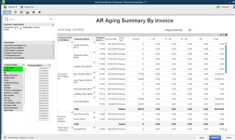 Aging Report For One Customer In Quickbooks by Quickbooks Enterprise Advanced Reports Ar Aging By Invoice With Date And Invoice Number