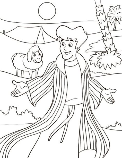 coloring pages joseph and his brothers joseph sold by his brothers coloring page google search