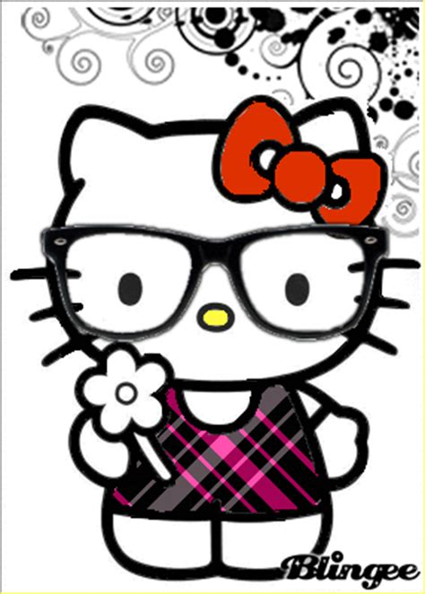 imagenes de hello kitty nerd hello kitty tm picture 121157372 blingee com