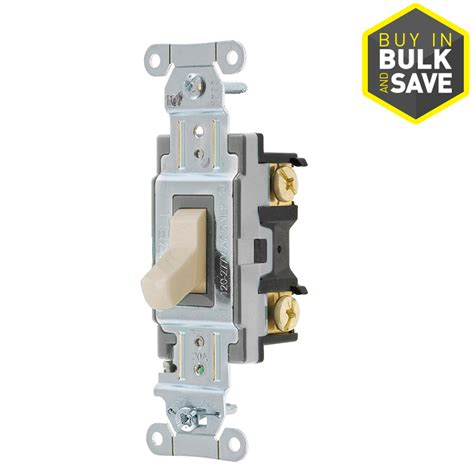 shop hubbell 20 light almond 3 way light switch at