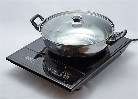 induction cooker for pot total chef induction cooker with pot lid appliances