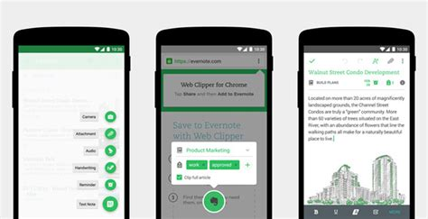 material design layout for android redesigned evernote for android features material like