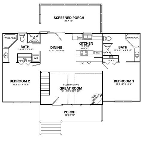 Two Level Floor Plans 1 bedroom 1 bath   Stonebridge
