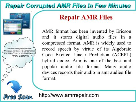 format audio amr methods to repair damaged or corrupted amr audio files