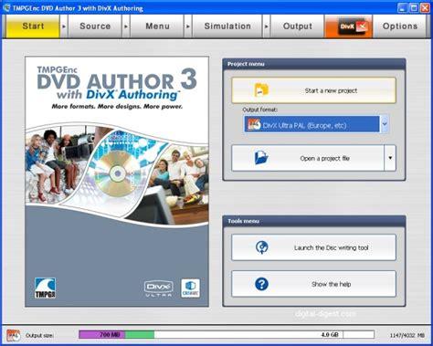 digital digest latest divx xvid dvd blu ray news tmpgenc dvd author 3 divx author divx authoring guide