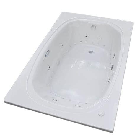 pearl bathtubs universal tubs pearl 5 6 ft center drain whirlpool and air bath tub in white hd3467rdx the