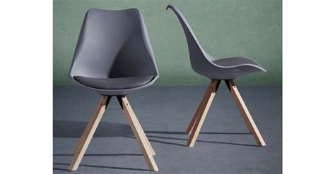stuhl ricky 2x stuhl ricky im retro chic im grauen lederlook f 252 r 29 80