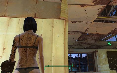 body tattoo fallout 4 skulls and flower tattoos fallout 4 fo4 mods