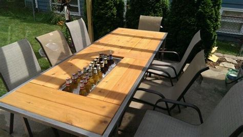 patio table with built in cooler patio table with built in coolers home ideas