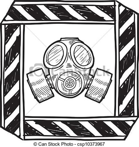 Clip Vector Of Chemical Or Biological Warning Doodle