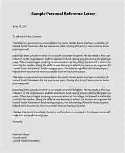 sample personal letter of recommendation 21 download