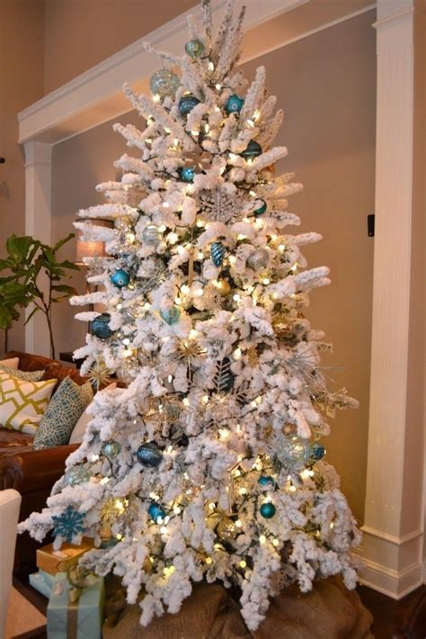white flocked christmas tree decorating ideas 1000 images about holiday christmas trees on pinterest