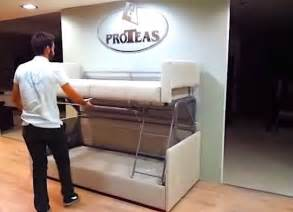 Sofa That Turns Into A Bunk Bed Coupe Sofa Turns Into A Comfy Bunk Bed In Just 14 Seconds Homecrux