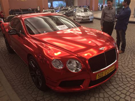 chrome bentley chrome red bentley gt looks intangible in dubai