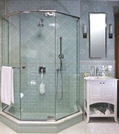 Longch Neo Small 16 semi frameless neo angle shower enclosure with a 6 inch through the glass pull handle master