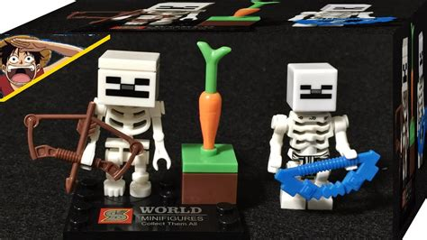 Lego Myspace Minecraft Sy270 1 sy 마인크래프트 스켈레톤 당근 미니피규어 레고 짝퉁 리뷰 myspace lego knockoff minecraft skeleton mob