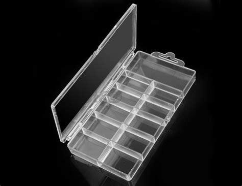 Nails With Box Clear acrylic clear false nail tips empty storage box