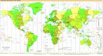 Map With Time Zones by Time Zone Map Mappery