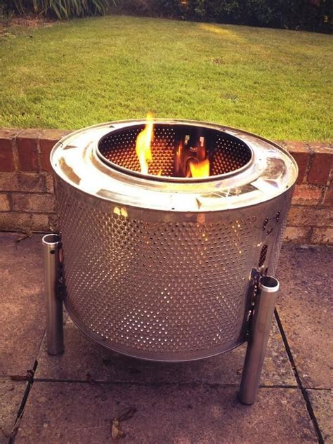 diy upcycled pit if you want a durable firepit upcycled washing machine drum arts and crafts