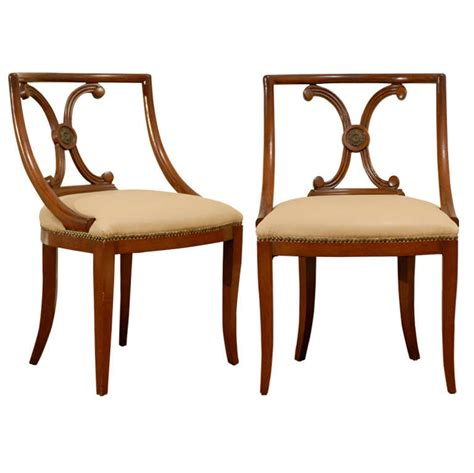 Stuart Chairs by Pair Of Stuart Neoclassical Chairs At 1stdibs