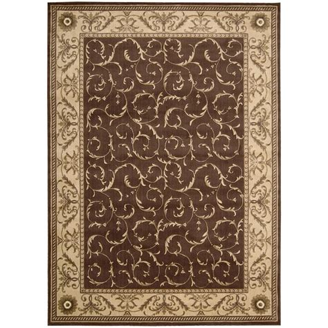 somerset rugs nourison somerset brown 7 ft 9 in x 10 ft 10 in area rug 047908 the home depot