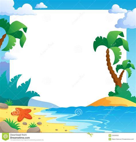 beach themed drawing beach theme frame 1 royalty free stock photos image
